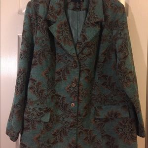 Demon & Co teal and brown beautiful jacket 1X